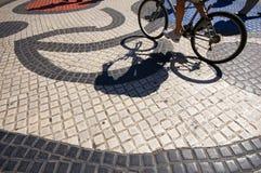 Art work tile mosaic La Rambla Barcelona Stock Photos
