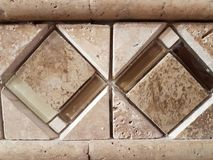 Art work on tiles for a shower royalty free stock photography
