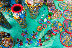 Art works , Indian handicrafts fair at Kolkata Stock Photo