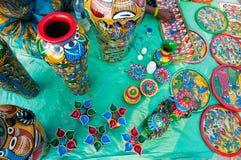 Art works , Indian handicrafts fair at Kolkata Stock Photo