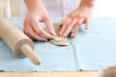 Art workshop, molding clay. stock photos