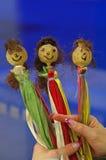 Art workshop: Poppy dolls Stock Image