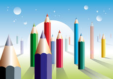Art world Royalty Free Stock Images