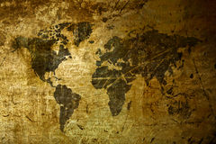Art World Map grunge Stock Photo