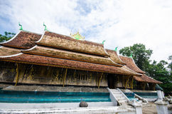 Art in Xieng Thong temple, Ancient temple, Laos. Stock Photography