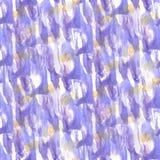 Art Yellow, lilac van de de verfvlek van de waterverfinkt plons c watercolour Stock Afbeeldingen