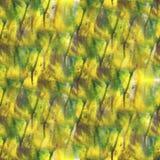 Art Yellow, verde, negro, waterco azul de la gota de la pintura de la tinta de la acuarela Imagen de archivo