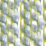 Art Yellow, verde, pintura azul marino de la tinta de la acuarela Imágenes de archivo libres de regalías