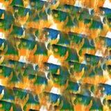 Art Yellow, zwarte, blauwe de verfvlek van de waterverfinkt Stock Afbeelding