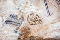 Art in Yourambulla cave Flinders Ranges Australia Royalty Free Stock Image