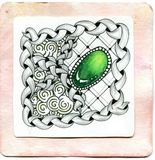 Art Zentangle Stockbild