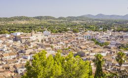 Arta, antike Stadt in Majorca-Insel stockbild