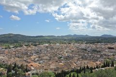 Arta City. View over the city of Arta, Majorca, Spain Royalty Free Stock Photos