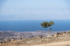 Arta landscape view to Gulf of Tadjourah, Djibouti, East Africa Royalty Free Stock Image