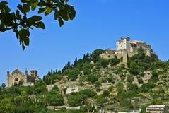 Arta, Majorca, con las hojas del higo Fotos de archivo libres de regalías