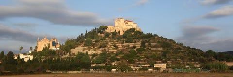 Arta Majorca Mallorca Balearic Islands church evening panorama p Royalty Free Stock Images