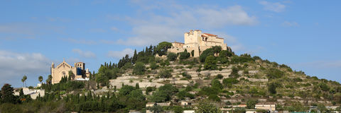 Arta Majorca Mallorca Balearic Islands panorama church Spain. Travel Stock Images