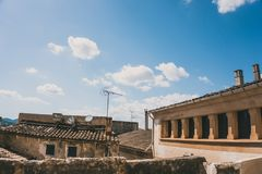 ARTA, MALLORCA, SPAIN. SEPTEMBER 16, 2017: Inside Arta. View of city with details Royalty Free Stock Photo
