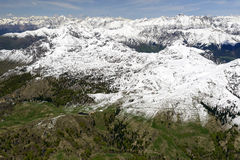 Artavaggio upland with springtime snow, Orobie, Italy Royalty Free Stock Photography