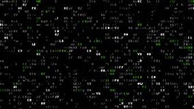 Artcode mit 8 Bits stock video
