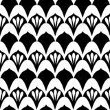Art Deco Print in Black & White vector illustration