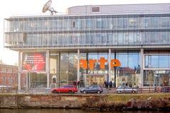 Arte电视总部在法国 免版税库存照片