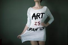 A arte é criação Imagens de Stock Royalty Free