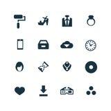 Arte, ícones do projeto ajustados ilustração stock