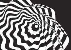 Arte óptico Bachground blanco y negro fotos de archivo libres de regalías