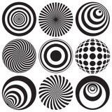Arte óptico en blanco y negro Foto de archivo libre de regalías