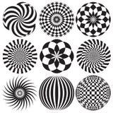 Arte óptico en blanco y negro Imagen de archivo libre de regalías