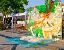 arte 3D na rua (2ó março - ? abril 201 Fotografia de Stock