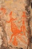 Arte aborígene da rocha Imagens de Stock