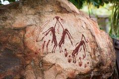 Arte aborígene da rocha na região do Kimberley de Austrália foto de stock royalty free