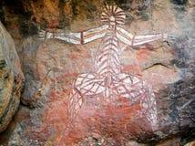 Arte aborígene da rocha, Nourlangie Fotos de Stock