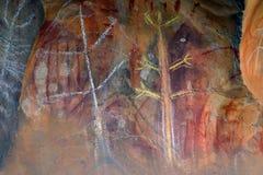 Arte aborígene da rocha Foto de Stock