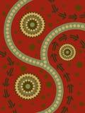 Arte aborigen abstracto Foto de archivo libre de regalías
