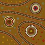 Arte aborigen abstracto Fotografía de archivo libre de regalías