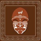 Arte aborigen de la máscara Imagenes de archivo