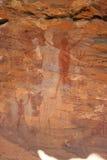 Arte aborigen de la roca Imágenes de archivo libres de regalías