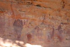 Arte aborigen de la roca Foto de archivo libre de regalías