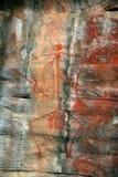 Arte aborigen de la roca Fotografía de archivo