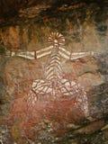 Arte aborigen de la roca - Kakadu Imagen de archivo