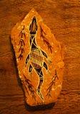 Arte aborigena australiana Immagini Stock Libere da Diritti