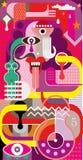 Arte abstracta - ilustração do vetor ilustração stock