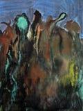 Arte abstracto de la pintura del cepillo Imagenes de archivo