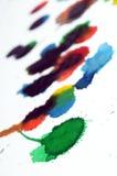 Arte abstracto del color de agua de la pintura Fotografía de archivo