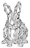 Arte abstracto del conejo Foto de archivo libre de regalías
