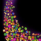 Arte abstracto del cubo. EPS 8 Foto de archivo