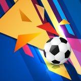 Arte abstracto del fútbol stock de ilustración